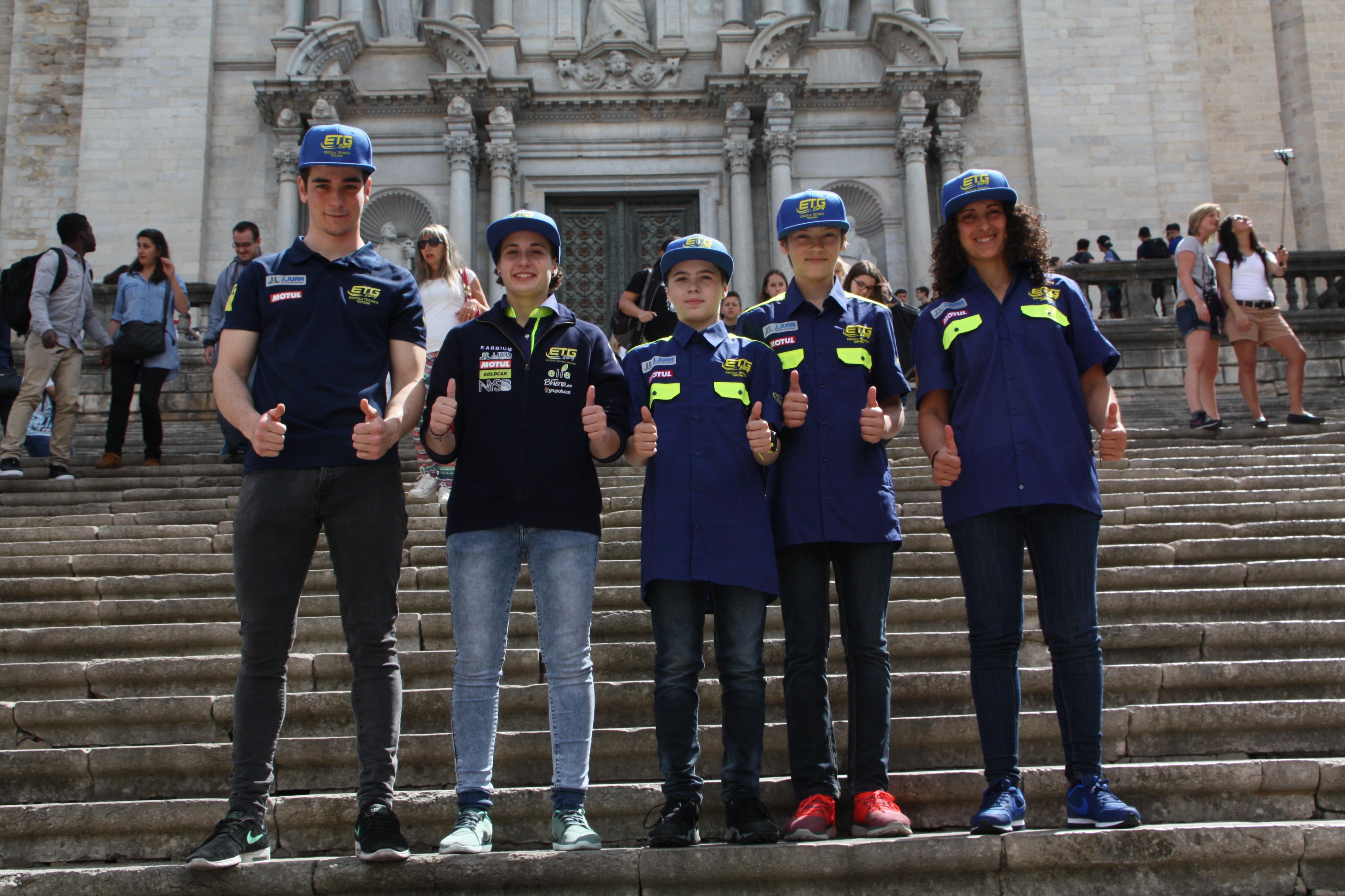 Presentació de l'equip gironí de motociclisme, ETG Ràcing, a la Diputació de Girona
