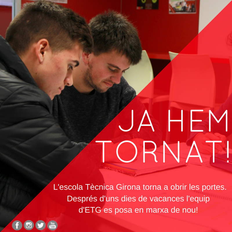 l'Escola Tècnica Girona obre les portes amb les piles carregades pel curs 17-18