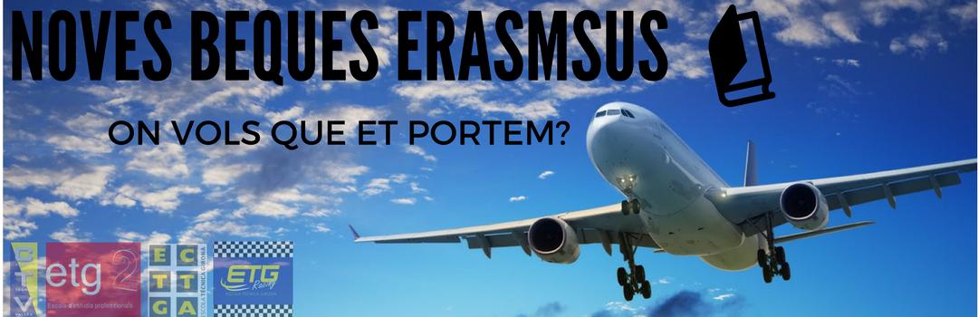 on vols que et portem? ERASMUS + Mobilitat internacional per estudiants
