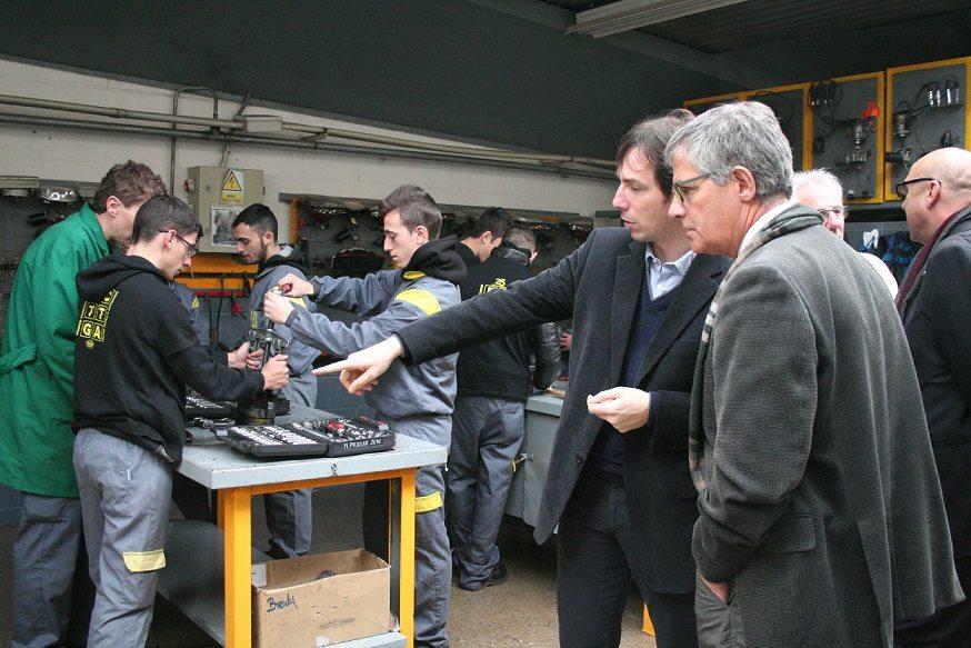 El delegat del Govern visita l'Escola Tècnica Girona