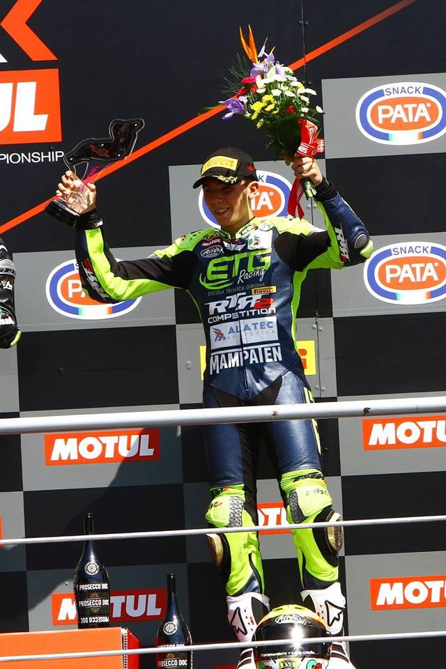 Borja Sánchez, segundo en Imola (Italia) en el Mundial de Superbikes