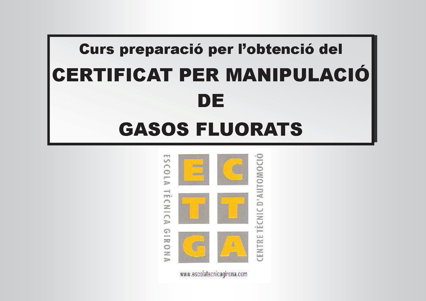 Iniciem ja el Curs de Manipulació de Gasos Fluorats