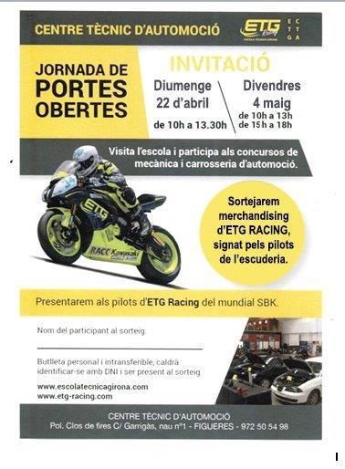 Les jornades de portes obertes al Centre Tècnic d'Automoció de Figueres (CTA) tindran lloc el diumenge 24 d'abril (10h a 13.30h) i el divendres 4 de