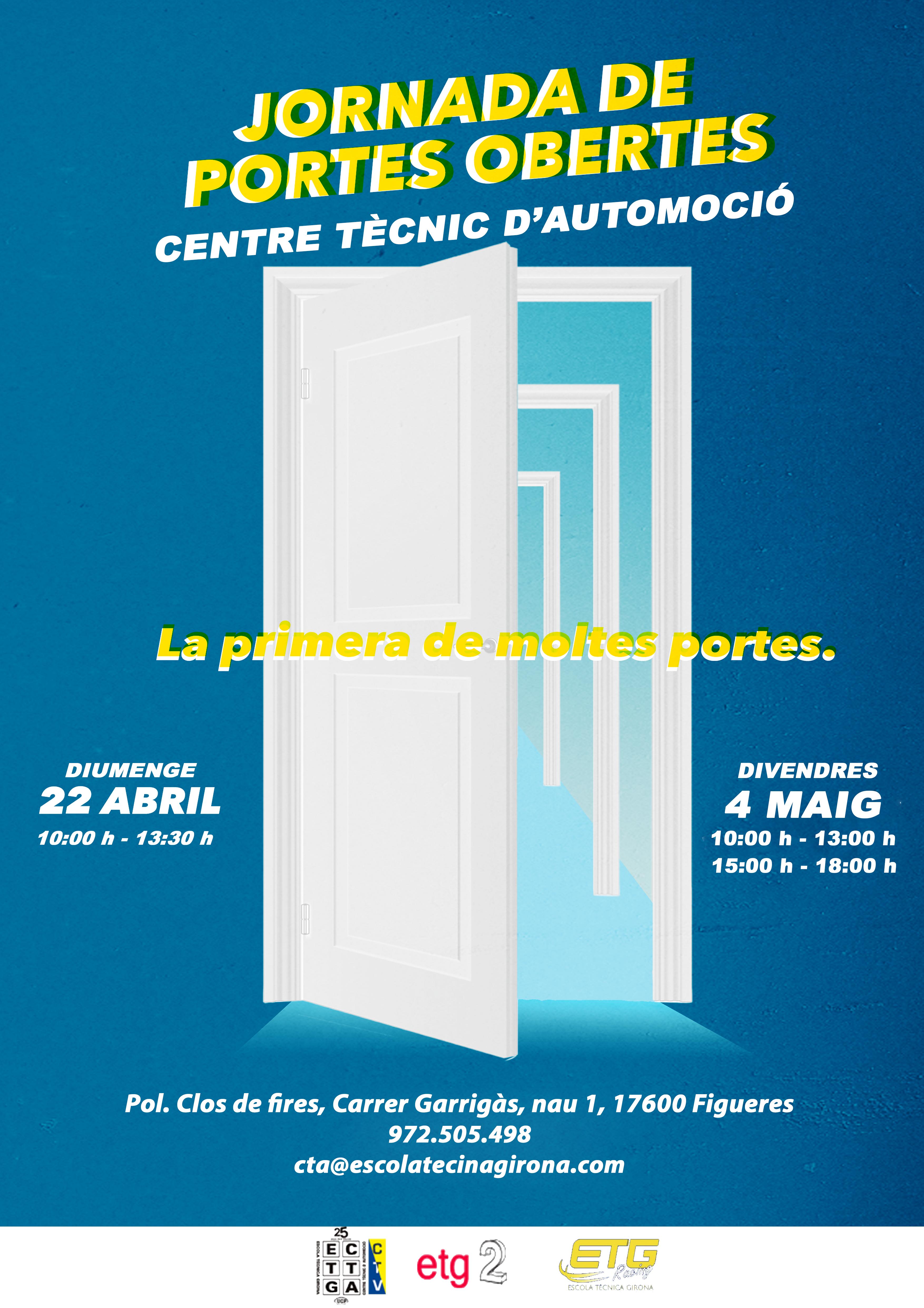 Les jornades de portes obertes al Centre Tècnic d'Automoció de Figueres tindran lloc el diumenge 24 d'abril i el divendres 4 de maig