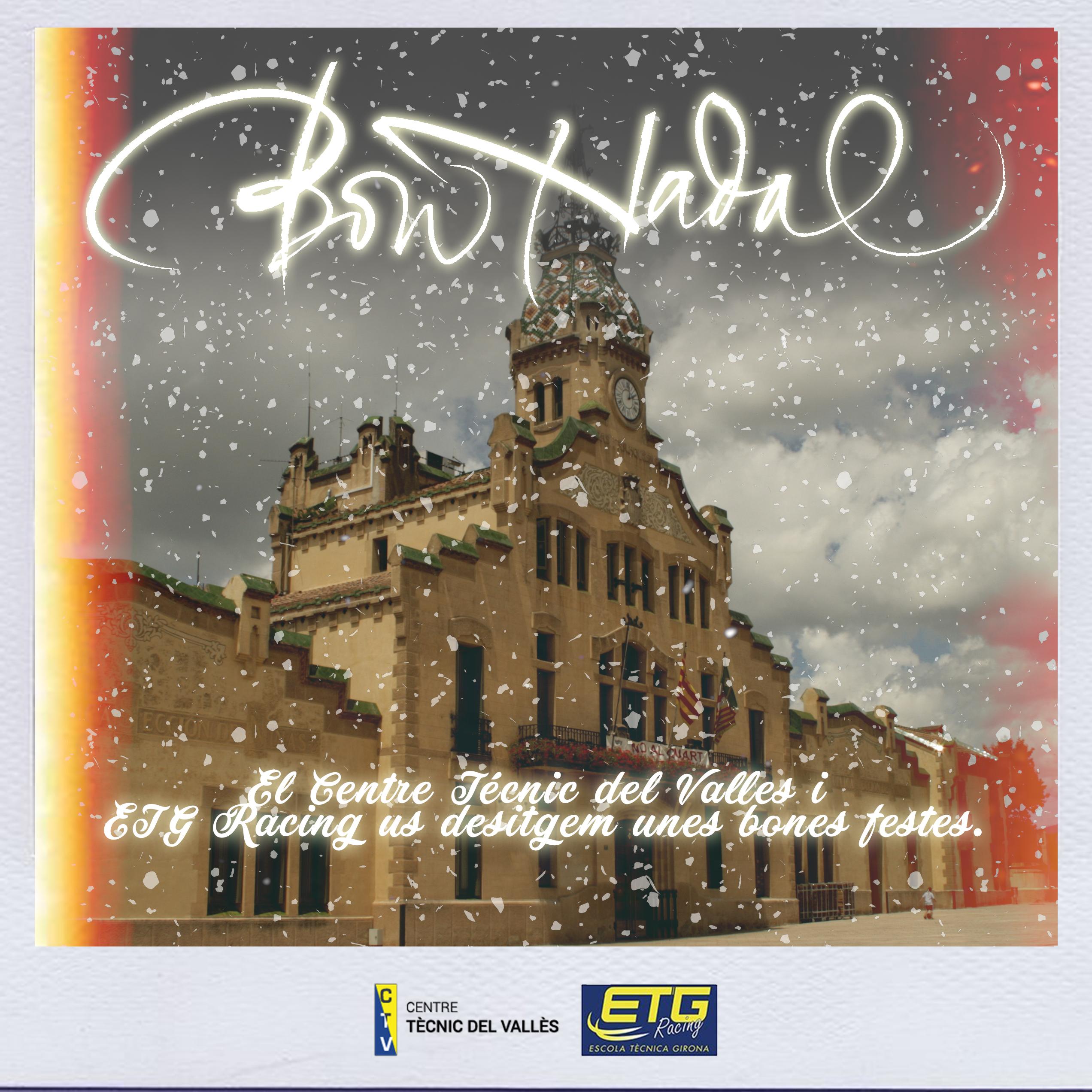 ETG i CTV us desitgen un Bon Nadal i un Feliç Any Nou