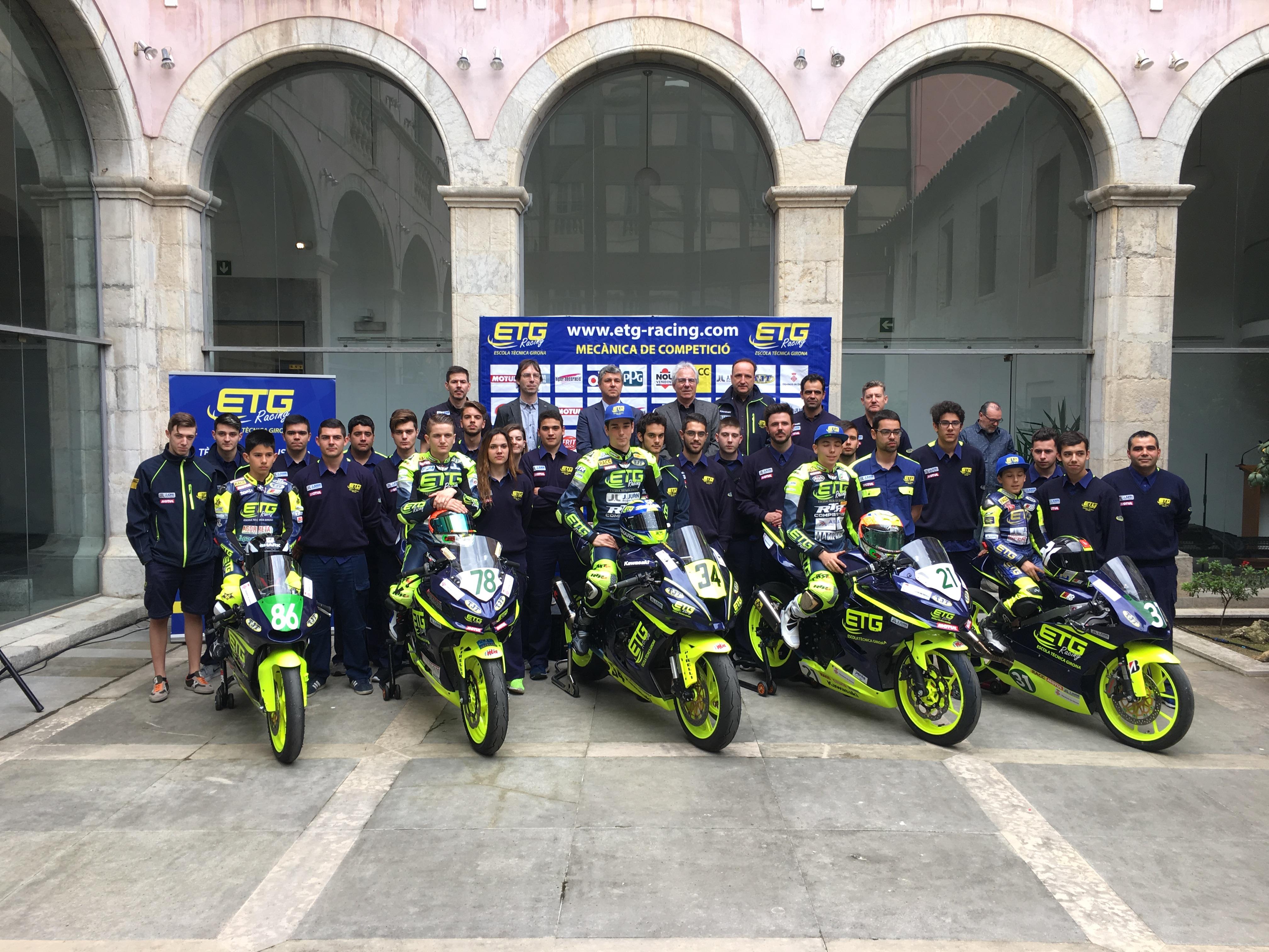 ETG Racing presenta l'escuderia a la Diputació de Girona