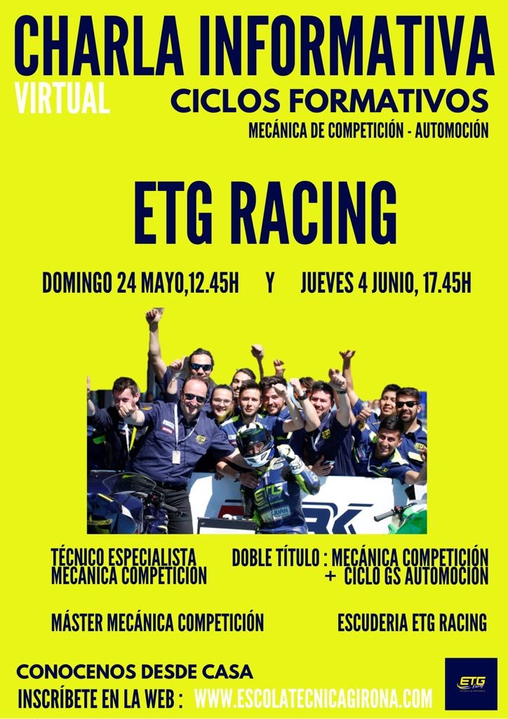 Nuevas charlas informativas en ETG Racing (Escola Tècnica Girona)