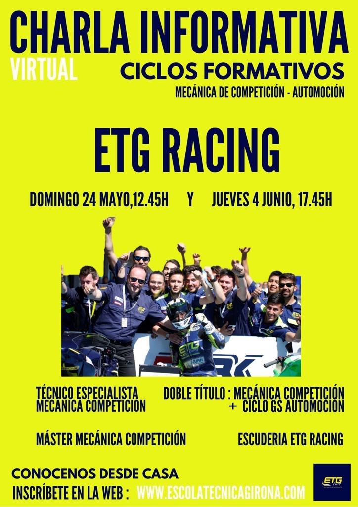 Noves xerrades informatives a l'ETG Racing (Escola Tècnica Girona)